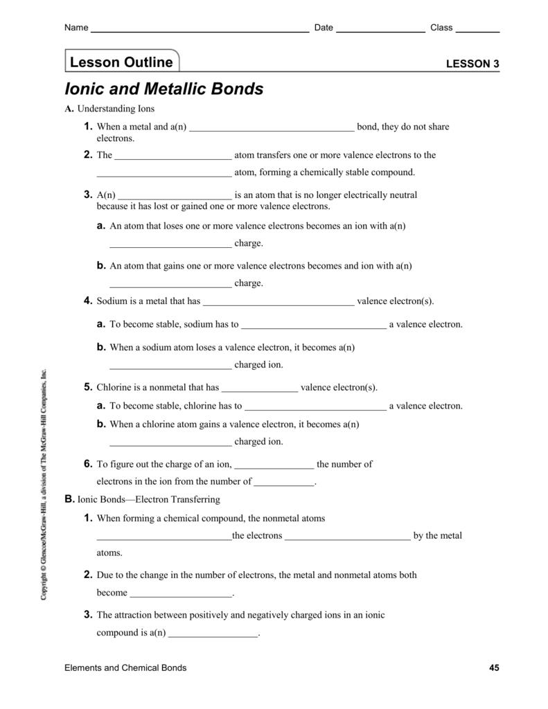 medium resolution of Lesson 3   Ionic and Metallic Bonds