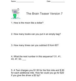 Math Brain Teasers [ 1024 x 791 Pixel ]