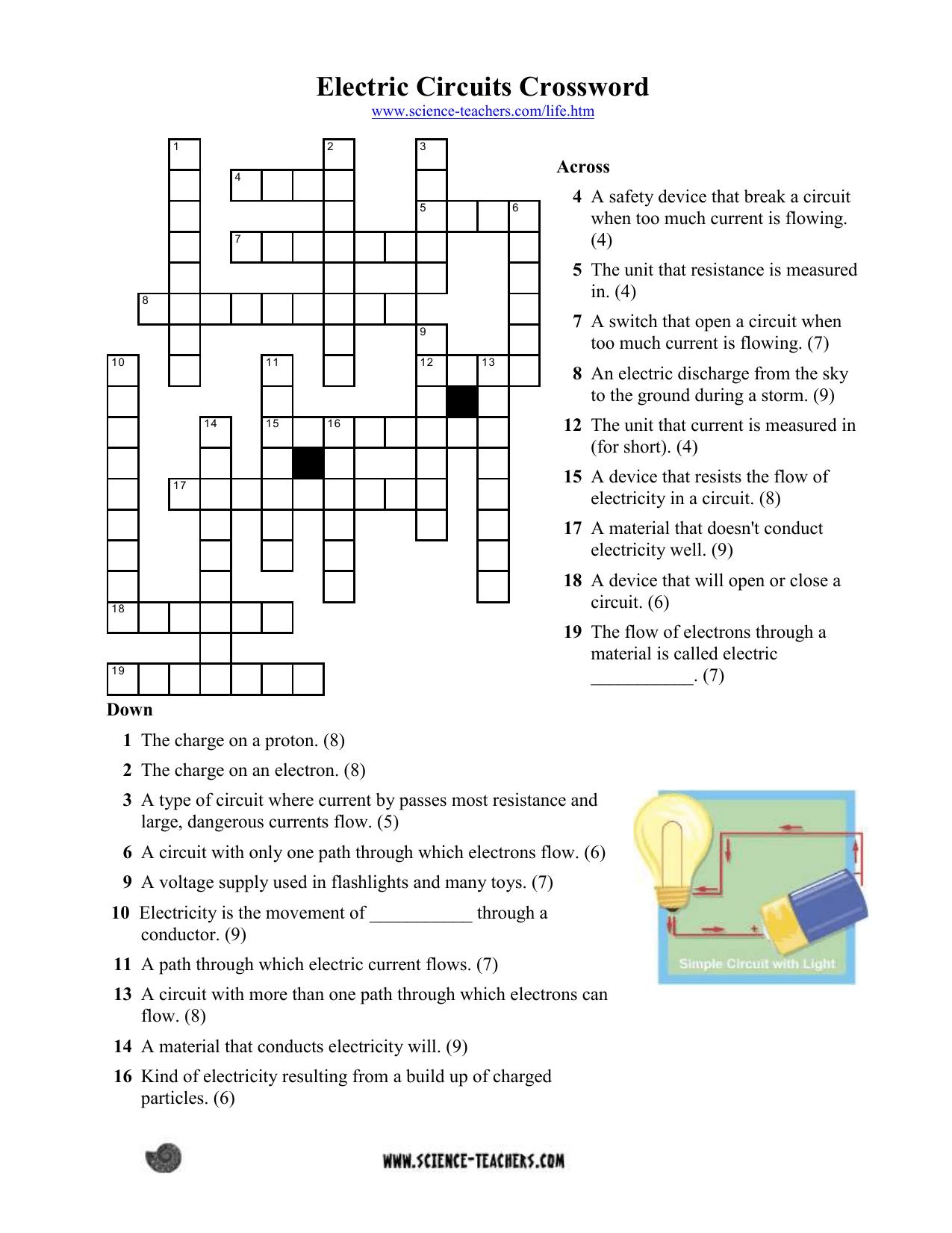 Electric Circuits Crossword 1