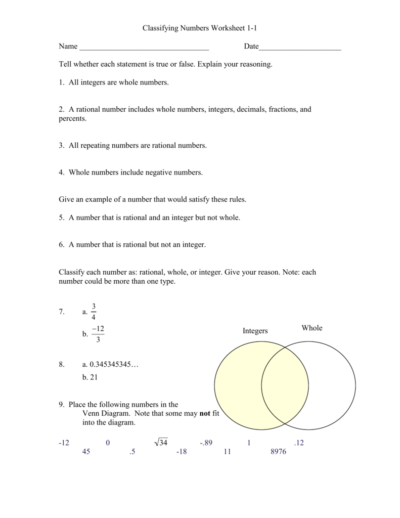 medium resolution of Classify these numbers as either rational or irrational and explain