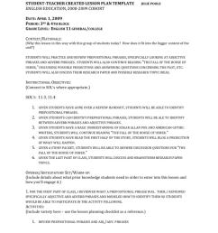 Adjective Adverb Phrase Lesson Plan [ 1024 x 791 Pixel ]