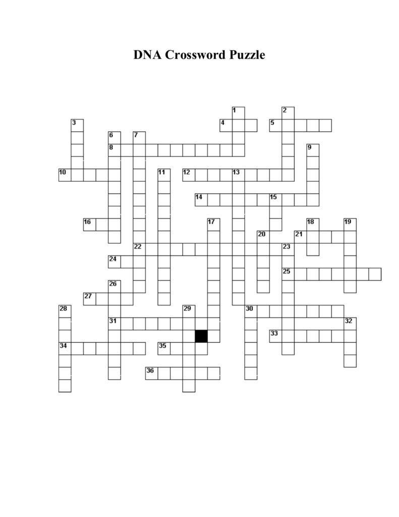DNA Crossword Puzzle