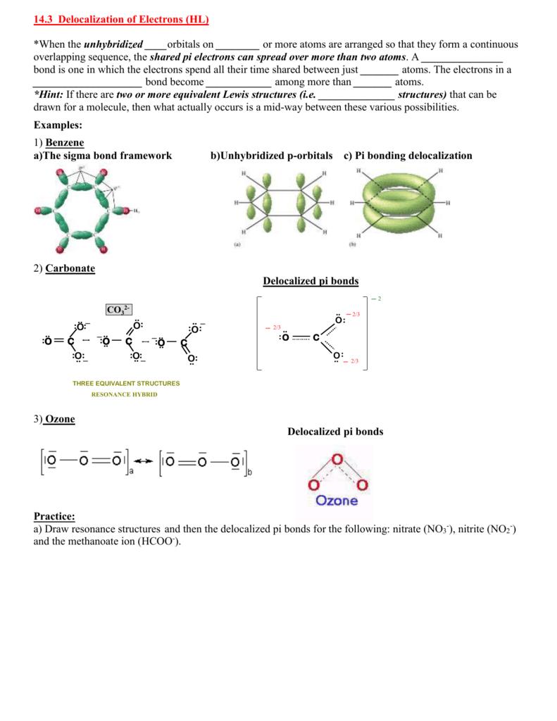 Nitrite Resonance Structures : nitrite, resonance, structures, Chemistry:, Delocalization