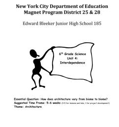Interdependence - JHS 185 Edward Bleeker ASPIRES Magnet School [ 1024 x 791 Pixel ]