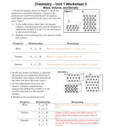 Chemistry Unit 1 Worksheet 3 Answers Mass Volume And Density - Worksheet  List [ 1024 x 791 Pixel ]