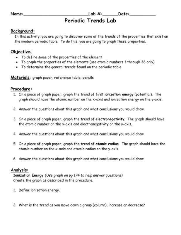 Discovering trends in the periodic table worksheet answers discovering trends in the periodic table worksheet answers urtaz Choice Image