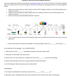 WEBQUEST: Light and the Electromagnetic Spectrum [ 1024 x 791 Pixel ]