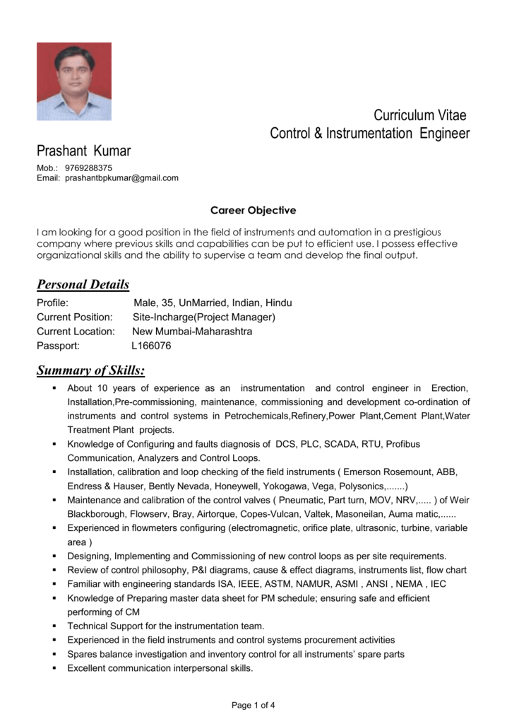 resume career objective for engineer