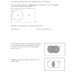 a number of probability laws can be established using venn diagrams this venn diagram represents a sample space s of all children in a class  [ 791 x 1024 Pixel ]
