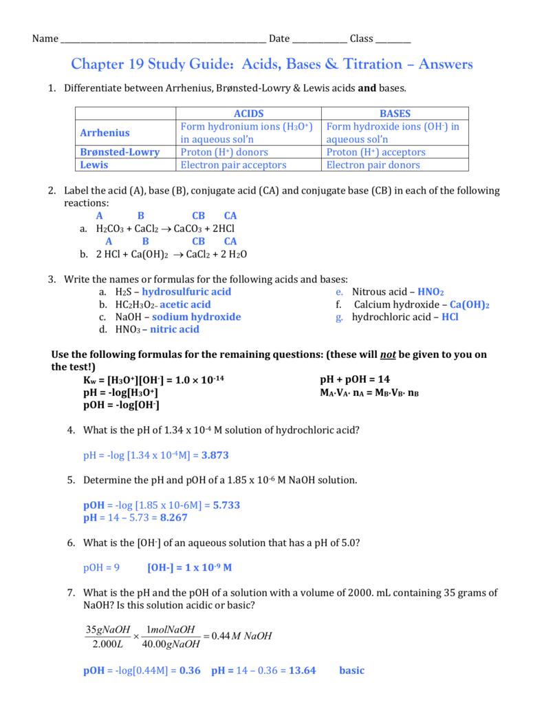 medium resolution of 30 Conjugate Acid Base Pairs Worksheet Answers - Worksheet Resource Plans