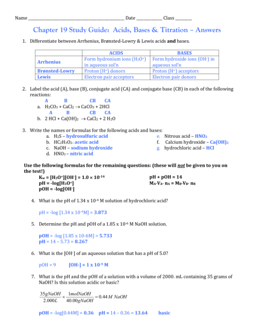 small resolution of 30 Conjugate Acid Base Pairs Worksheet Answers - Worksheet Resource Plans