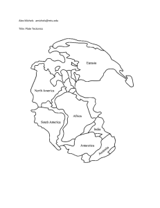 Earth Structure and Plate Tectonics Unit Review