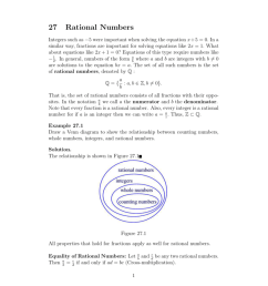 27 rational numbers integers such as 5 were important when solving the equation x 5 0 in a similar way fractions are important for solving equations  [ 791 x 1024 Pixel ]