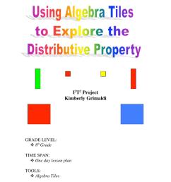 Using Algebra Tiles to Explore the Distributive Property [ 1024 x 791 Pixel ]