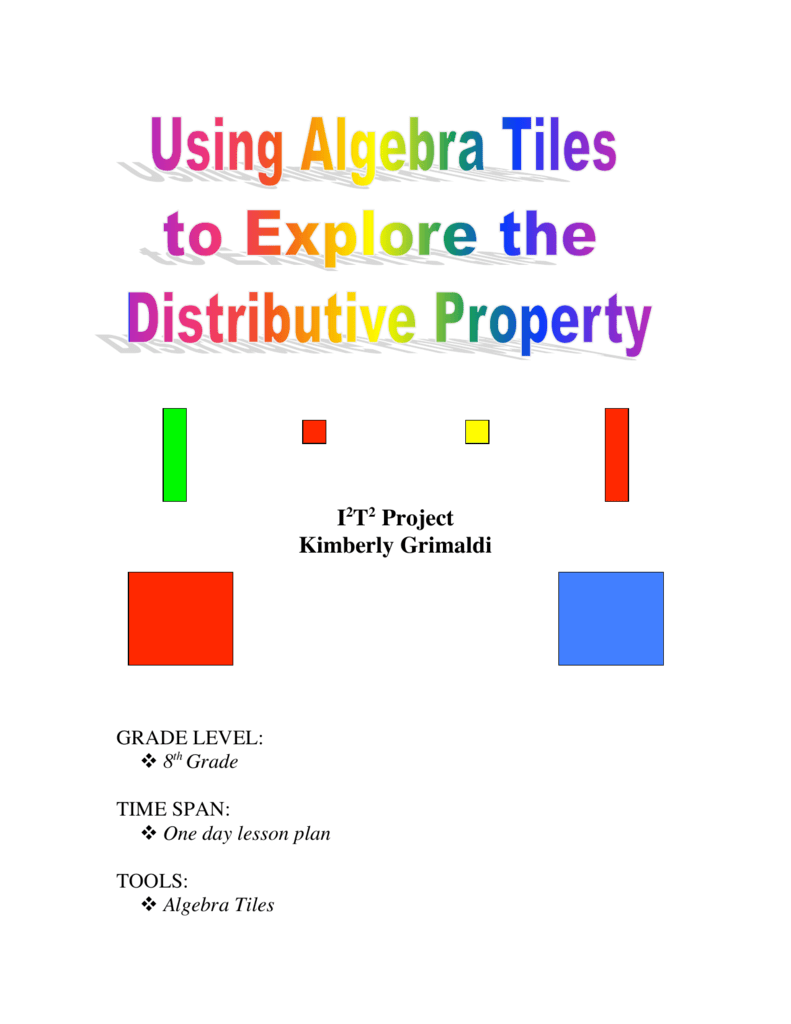 hight resolution of Using Algebra Tiles to Explore the Distributive Property