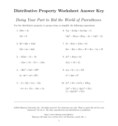The Distributive Property Worksheet Answers - Promotiontablecovers [ 1024 x 791 Pixel ]