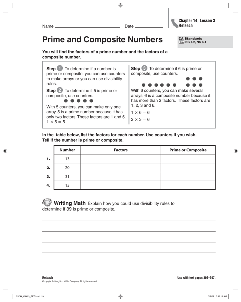 hight resolution of Prime and Composite Numbers