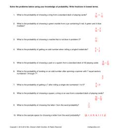 Probability Theory Worksheet 1 Key [ 1024 x 791 Pixel ]
