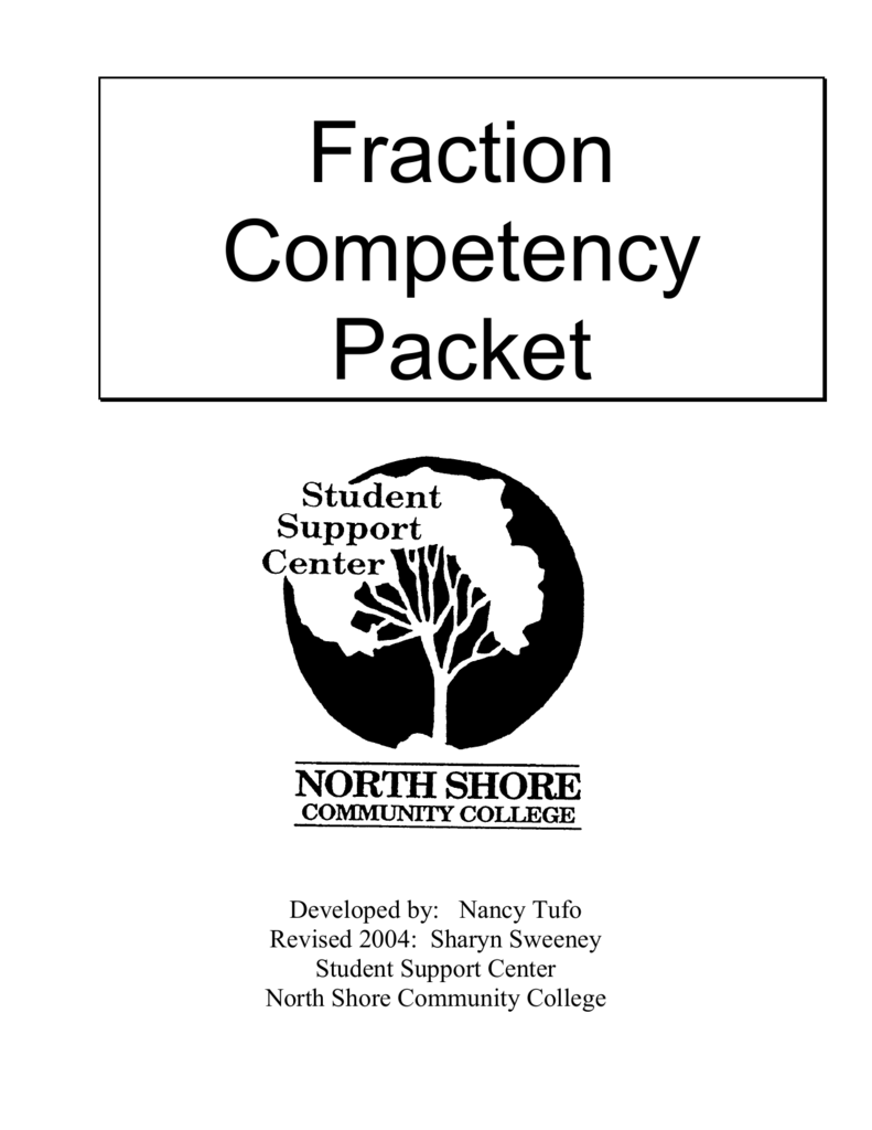 Fraction Competency Packet