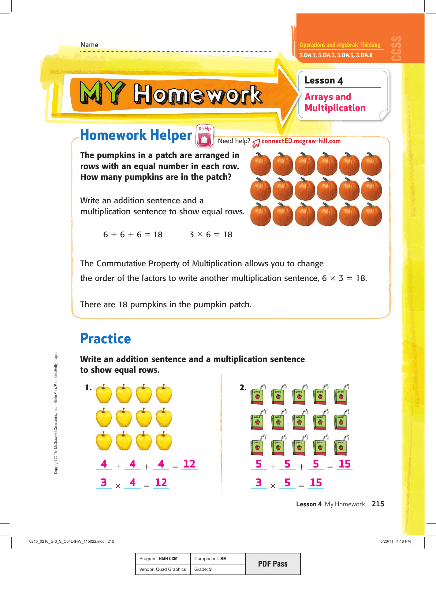 My Homework Lesson 6 The Associative Property Of