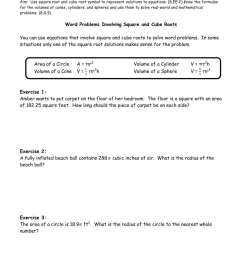 Square Roots And Cube Roots Worksheet With Answers - Worksheet List [ 1024 x 791 Pixel ]