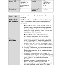 Constitution Convention Lesson Plan (doc) [ 1024 x 791 Pixel ]
