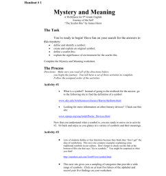 Handout 1 Mystery and Meaning Webquest.doc [ 1024 x 791 Pixel ]