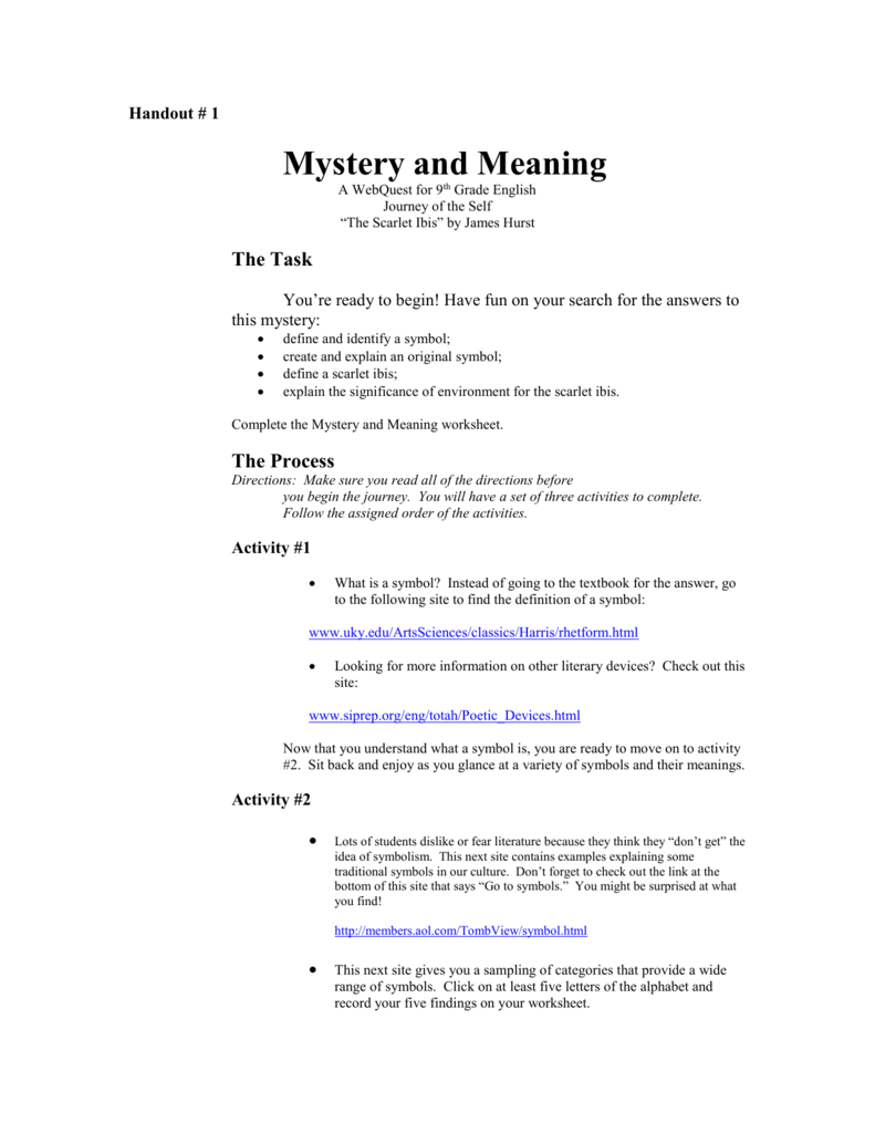 hight resolution of Handout 1 Mystery and Meaning Webquest.doc