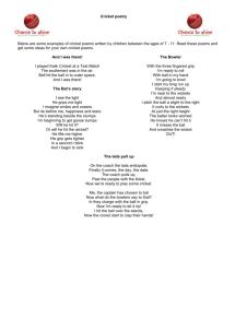 cricket poetry