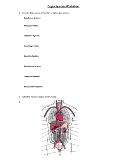 Human Biology and Health Worksheets