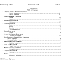 Grade 9 Curriculum - Ardenne High School [ 791 x 1024 Pixel ]