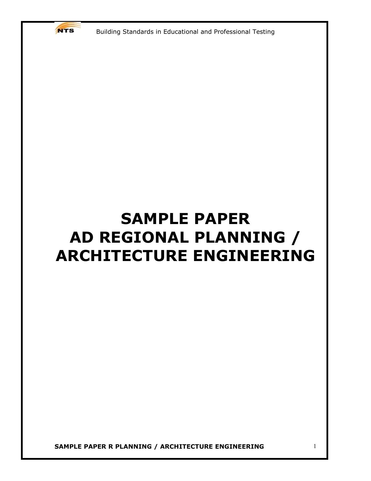 Sample Paper SESE Science