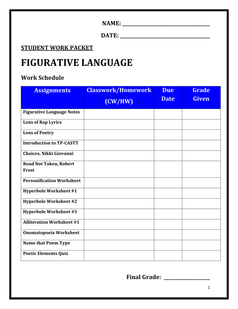 medium resolution of Figurative Language