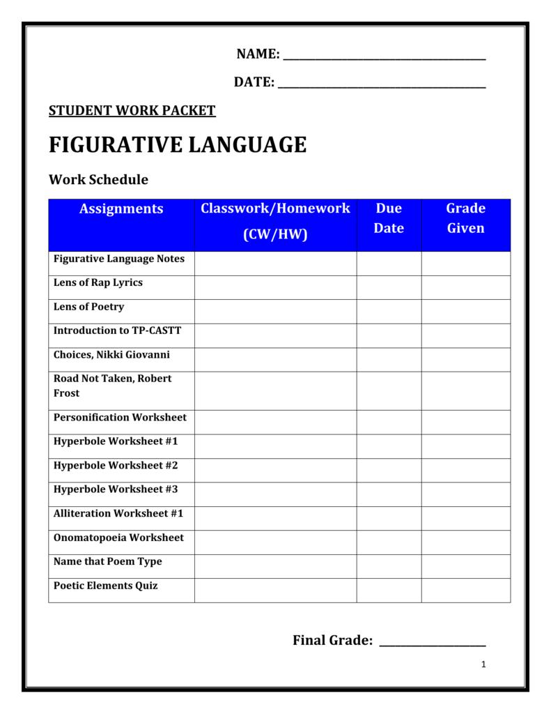 hight resolution of Figurative Language