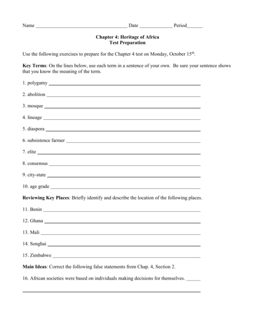 small resolution of Ch. 4 Test Prep Worksheet.doc