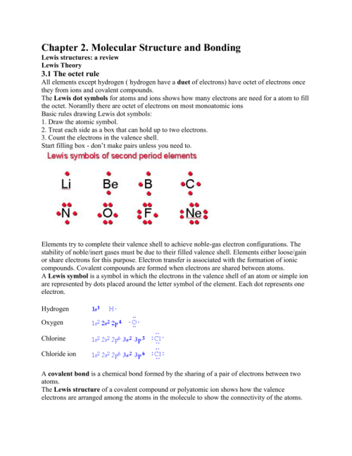 small resolution of molecular structure and bonding