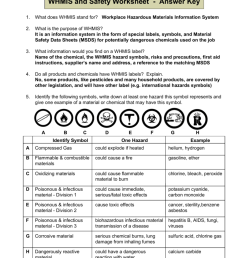 WHMIS and Safety Worksheet - Answer key [ 1024 x 791 Pixel ]