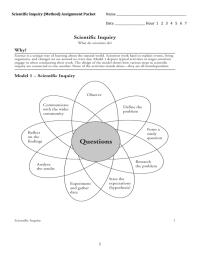 Scientific Inquiry Worksheet - Kidz Activities