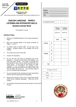 MATHEMATICS Compulsory Part PAPER 1 Question
