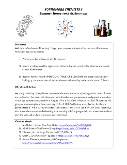 small resolution of 10th Grade Chemistry - Golder College Prep