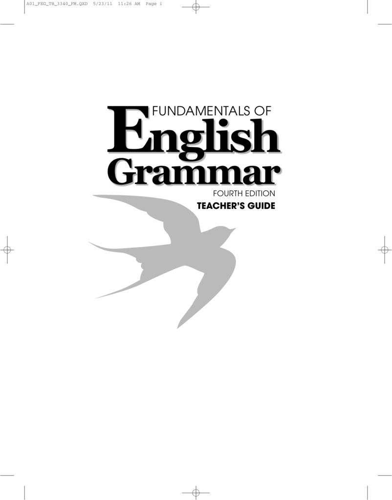 Azar Teacher's Guide: Fundamentals of English Grammar, 4th