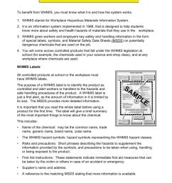 Student WorkSafe Grade 8 WHMIS Student Handouts [ 1024 x 791 Pixel ]