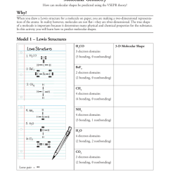 molecular geometry how can molecular shapes be predicted using the vsepr theory why when you draw a lewis structure for a molecule on paper  [ 791 x 1024 Pixel ]