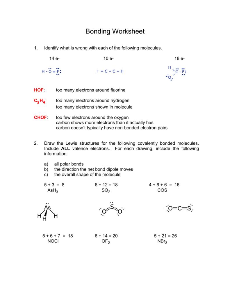 C2 Lewis : lewis, Bonding, Worksheet