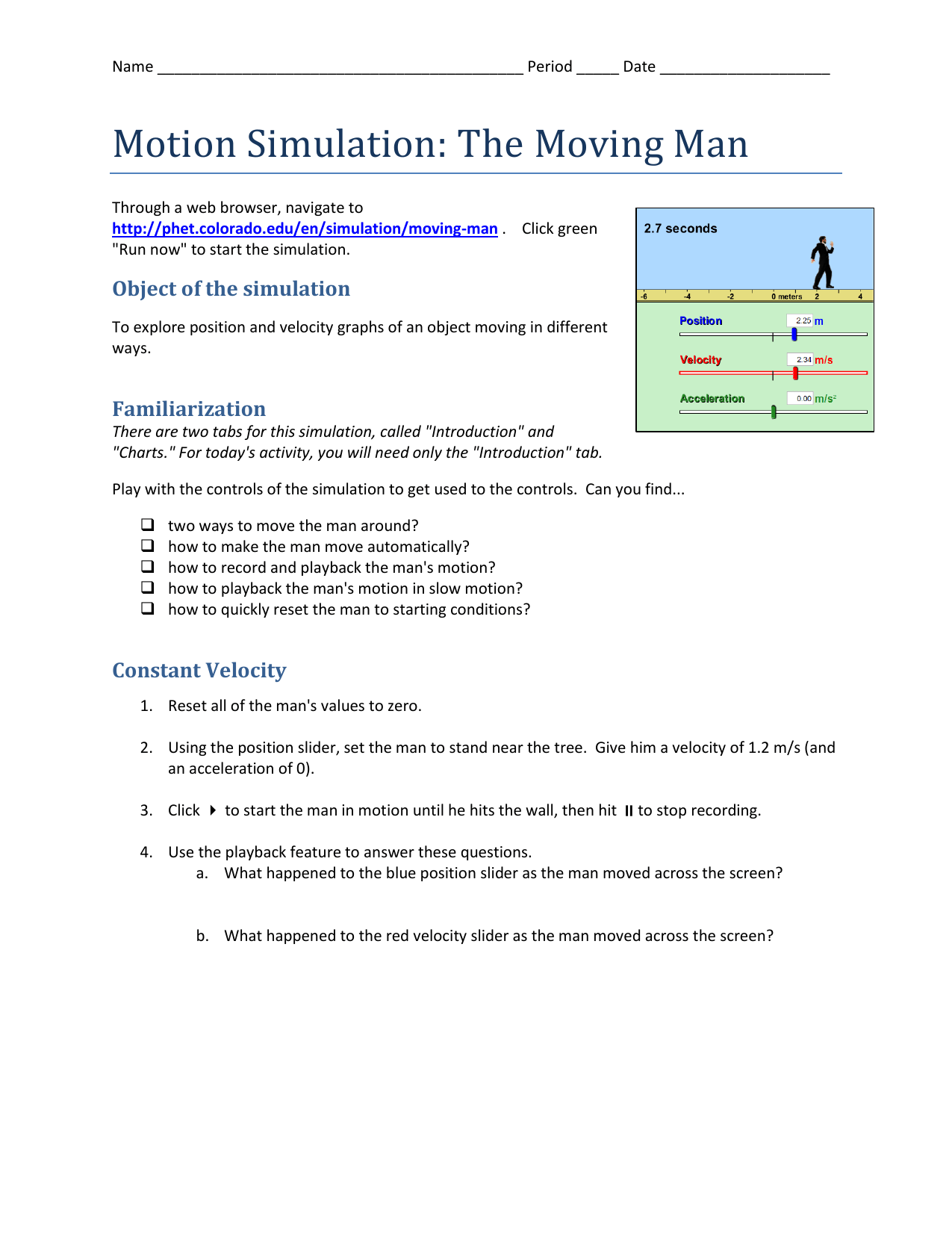 Moving Man Worksheet Answers