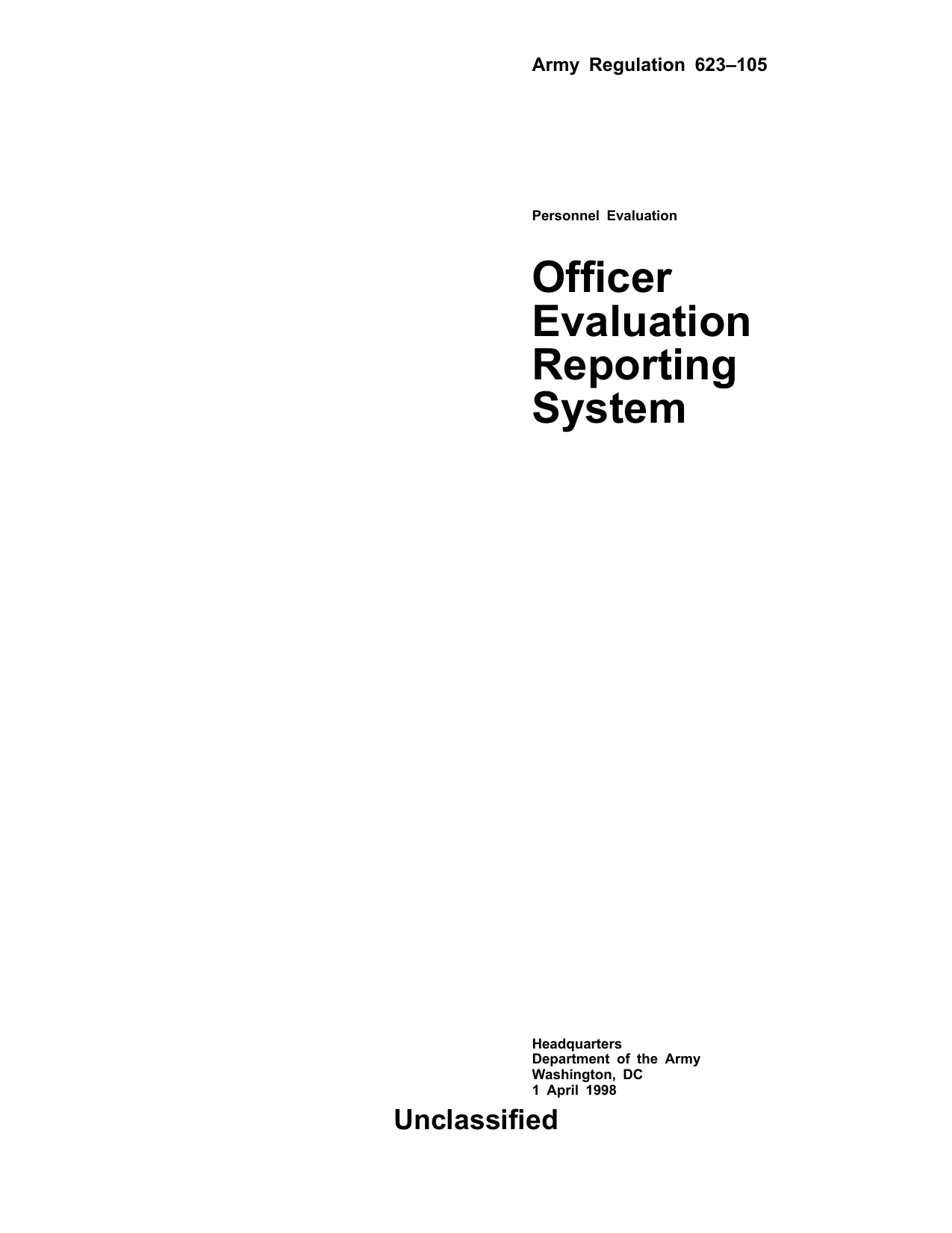 Officer Evaluation Reporting System