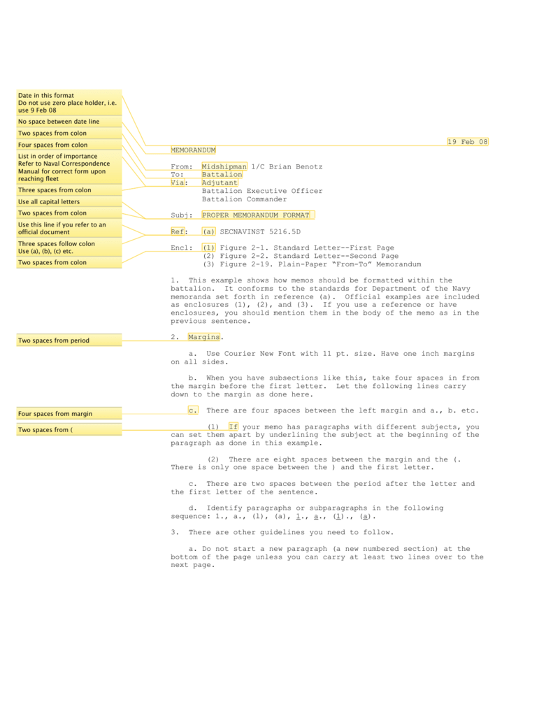 Two Page Memo Format