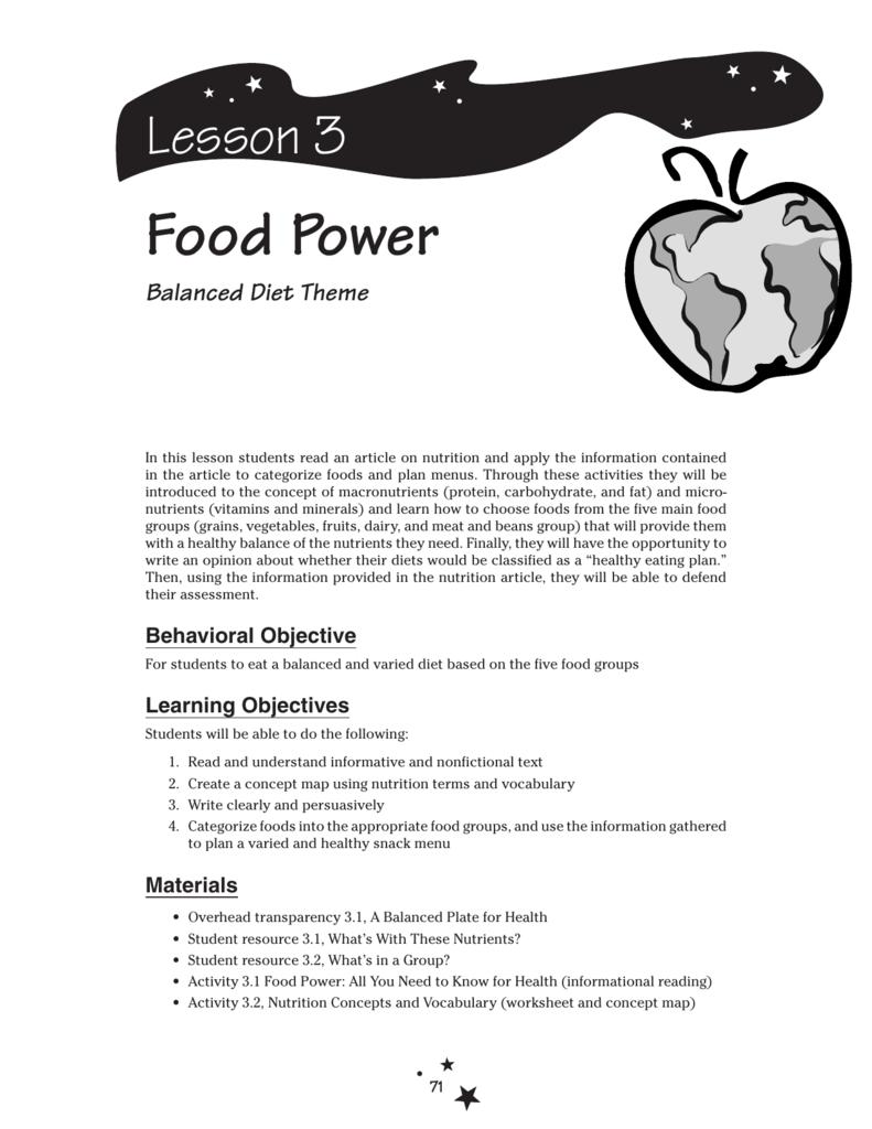 medium resolution of Food Power - Planet Health