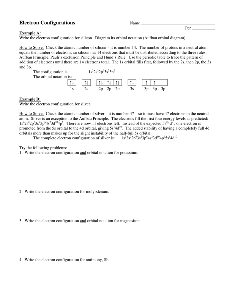 hight resolution of per example a write the electron configuration for silicon diagram its orbital notation aufbau orbital diagram how to solve check the atomic