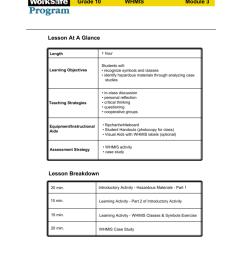 Student WorkSafe Grade 10 WHMIS Plan Module 3 [ 1024 x 791 Pixel ]